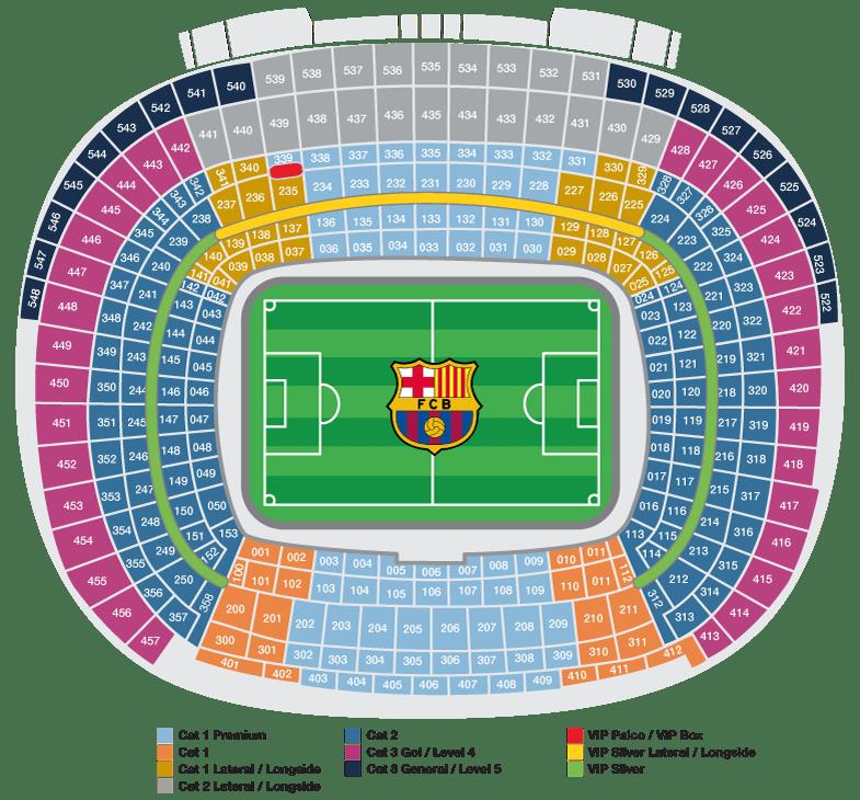 seats FC Barcelona Stadium