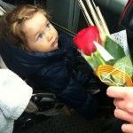 child and rose
