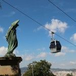 sculpture and Montjuïc Cable Car