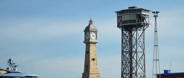 Barceloneta's clock tower