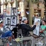 portrait artist La Rambla
