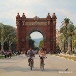 cyclists at passeig Lluís Companys
