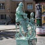 La Rambla human statue
