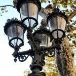 streetlights Canaletes Fountain