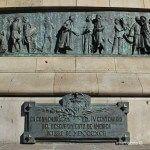 commemorative plaque Christopher Columbus