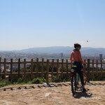 cyclist at Mirador del Migdia Mirador del Migdia