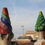 chimneys terrace Palau Güell