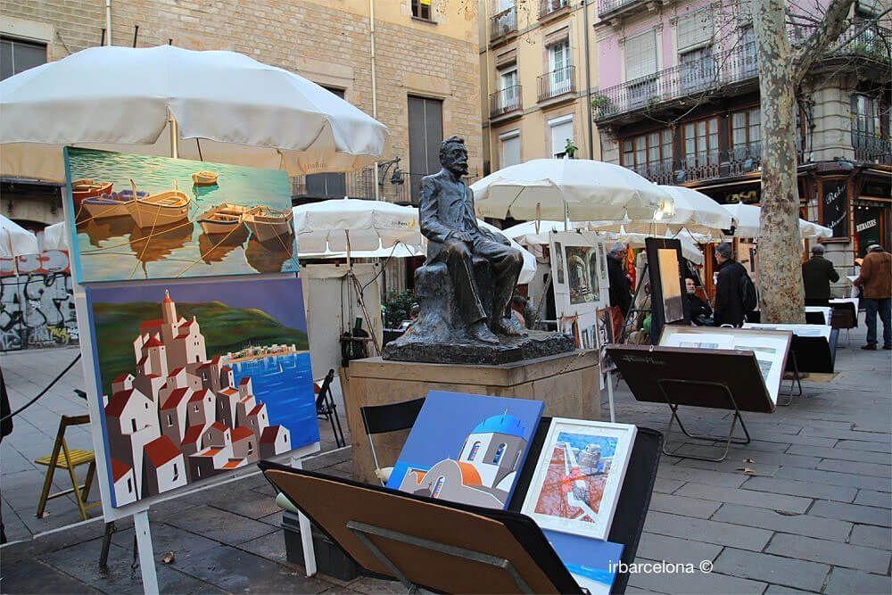 art Plaça Sant Josep Oriol