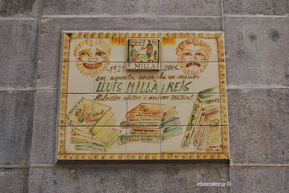 plaque honoring Lluís Millà i Reig