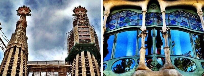 Casa Batlló and Sagrada Familia