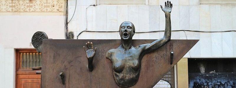 monument plaça del Diamant