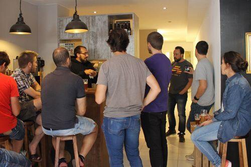 craft beer tasting and gourmet tapas