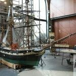 Restoration of the model of a boat