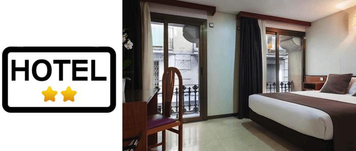 2 star hotels in Barcelona