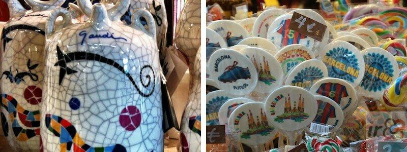 souvenirs and gift shops in Barcelona