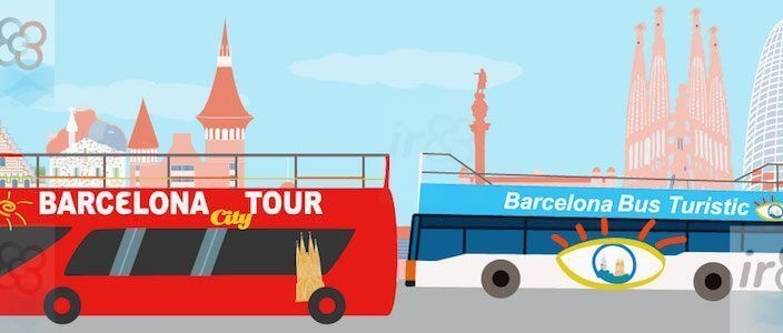 Hop-On Hop-Off Barcelona bus tour