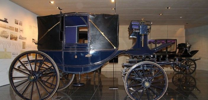 Collection of Funeral Carriages and Hearses