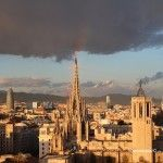 Rainbow over the Cathedral of Barcelona