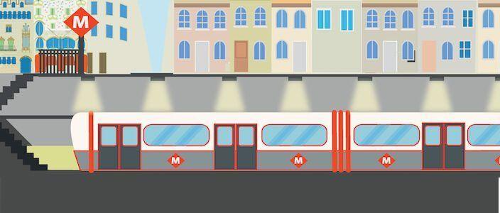 Barcelona Metro - Underground - Tube -Subway