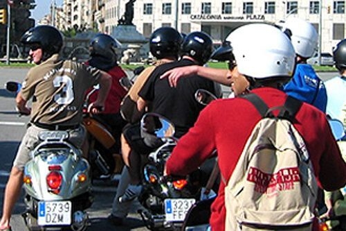 scooter guided tour Barcelona