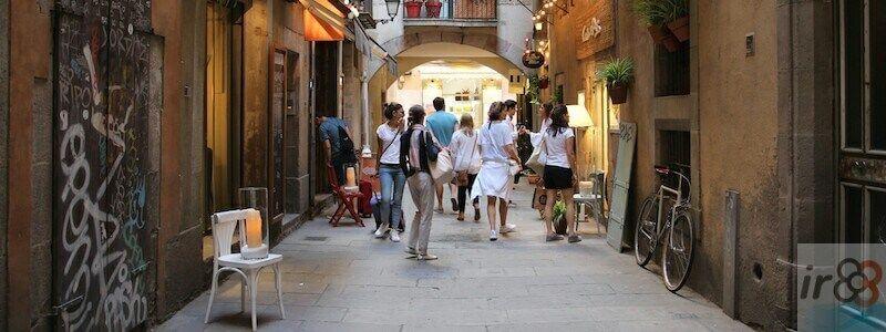 recorrer zonas de Barcelona a pie