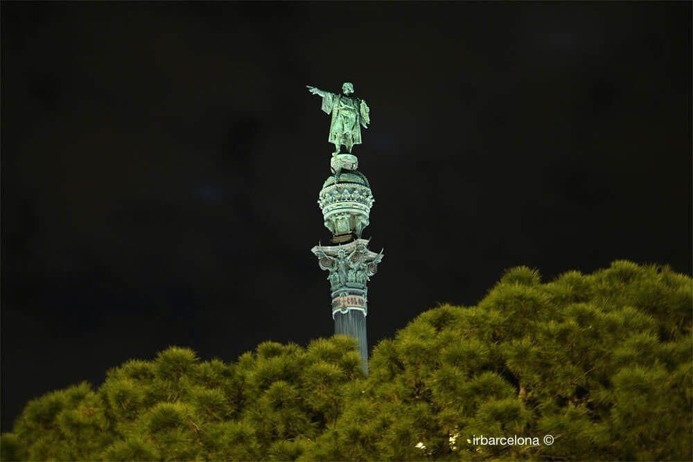 Christopher Columbus at night
