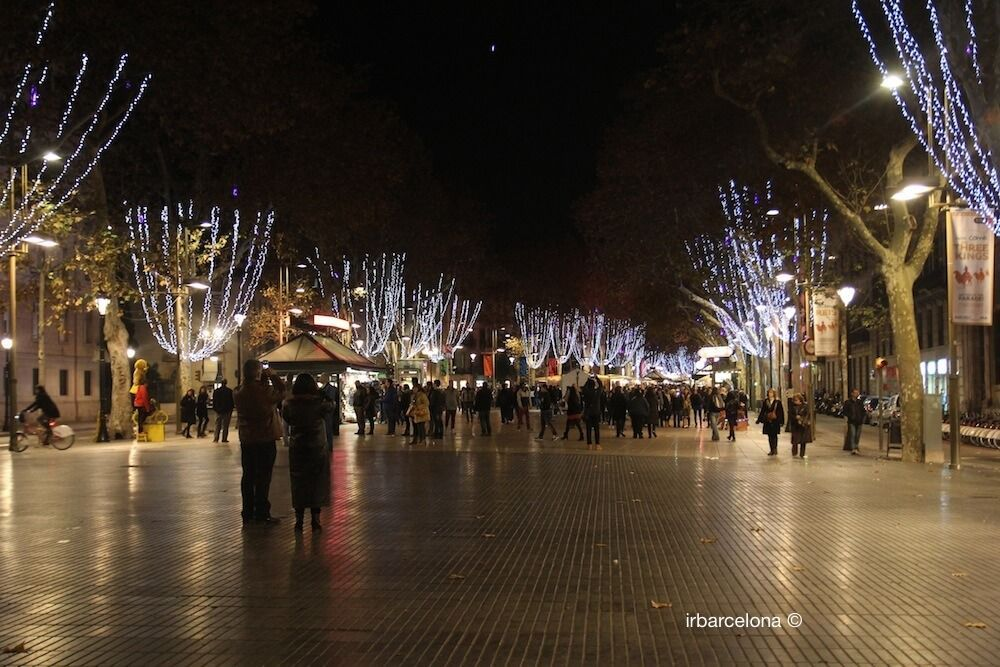 La Rambla by night