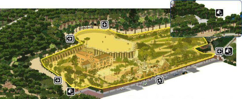 zona monumental Park Güell