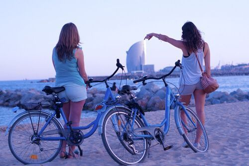 Barcelona Beach bike tour
