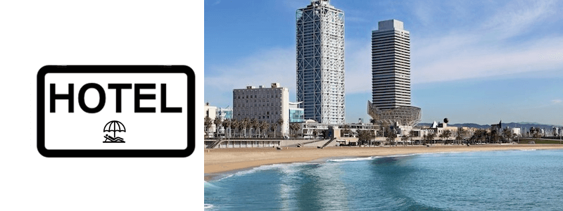 Barcelona beach hotels and apartments