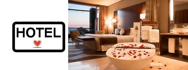 Romantic hotel Barcelona