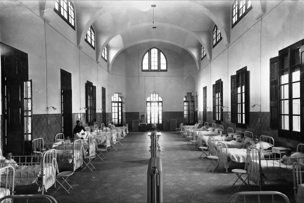 interior pabellón Sant Pau