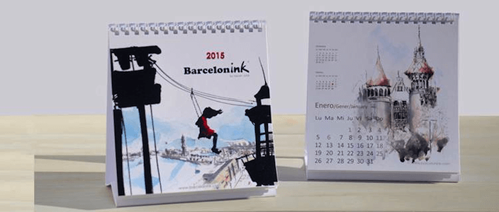 Prize Draw to win the new Barcelonink 2015 Calendar