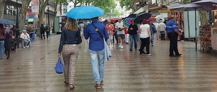 Barcelona if it rains