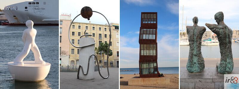 Urban Sculptures and Statues in Barcelona