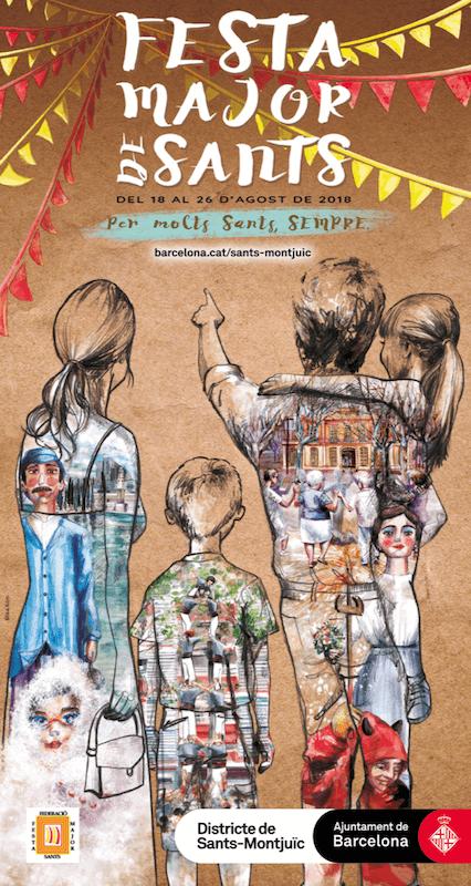 Festa Major Sants poster 2018