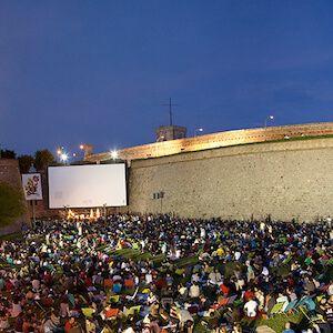 open air cinema in Barcelona